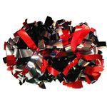 Помпон гантель металлизированный(черно-красно-серебряный), фото