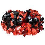 Помпон гантель металлизированный (черно-красный), фото 1