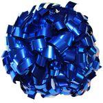 Помпон одиночный металлизированный ( ручка трубка,синий), фото 1