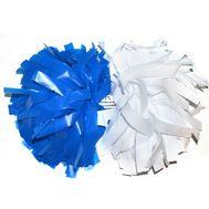 Помпон гантель матовый (белый - синий), фото 1
