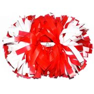 Помпон гантель матовый (красно-белый), фото 1