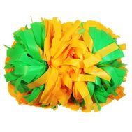 Помпон гантель матовый (оранжево - салатовый), фото 1