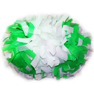 Помпон гантель матовый (бело - салатовый), фото 1