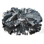 Помпон гантель металлизированный(серебряный), фото 1