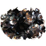 Помпон гантель металлизированный(черно-серебряный), фото 1