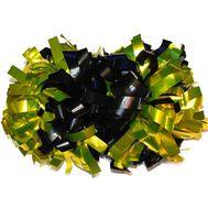 Помпон гантель металлизированный(черно-золотой), фото 1