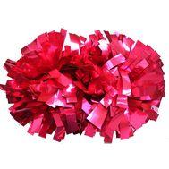 Помпон гантель металлизированный(розовый), фото 1