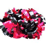 Помпон гантель металлизированный(черный-розовый), фото 1