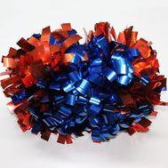 Помпон гантель металлизированный (красно-синий), фото 1