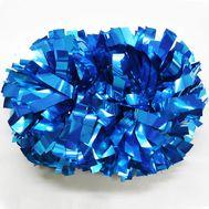 Помпон гантель металлизированный(голубой), фото 1