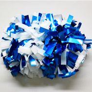 Помпон гантель металлизированный(бело-голубой)(комби), фото 1