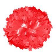 Помпон одиночный матовый ( ручка кольца,красный), фото 1