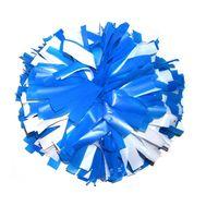 Помпон одиночный матовый ( ручка кольца,сине-белый), фото 1
