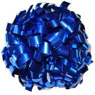 Помпон одиночный металлизированный ( ручка кольца,синий), фото 1