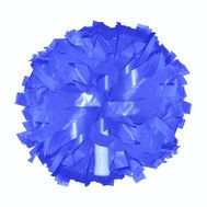 Помпон одиночный матовый ( ручка трубка,синий), фото 1