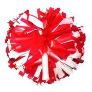 Помпон одиночный матовый ( ручка трубка,красно-белый), фото 1