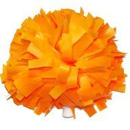 Помпон одиночный матовый ( ручка трубка,оранжевый), фото 1