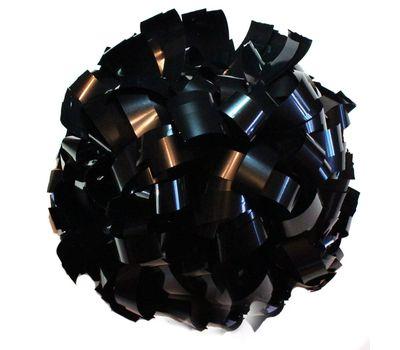 Помпон одиночный металлизированный ( ручка кольца,черный), фото 1