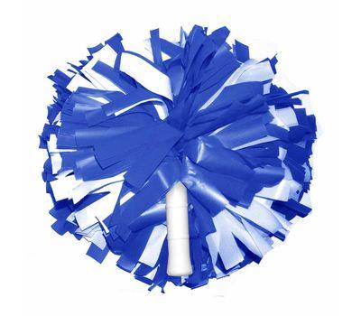 Помпон одиночный матовый ( ручка трубка,сине-белый), фото 1