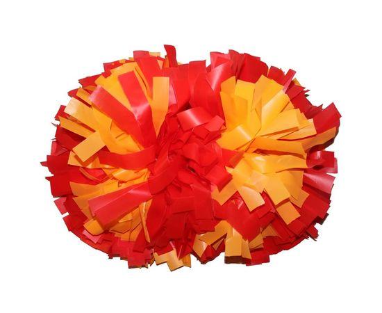 Помпон гантель матовый (красно - оранжевый), фото 1