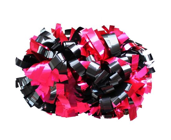 Помпон гантель металлизированный(черный-розовый), фото