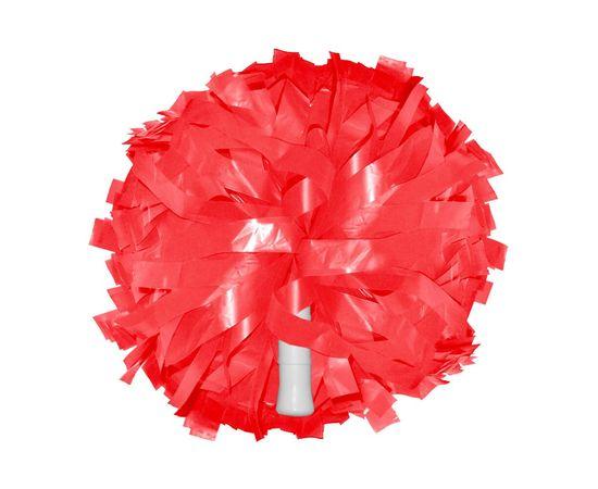 Помпон одиночный матовый ( ручка трубка,красный), фото 1